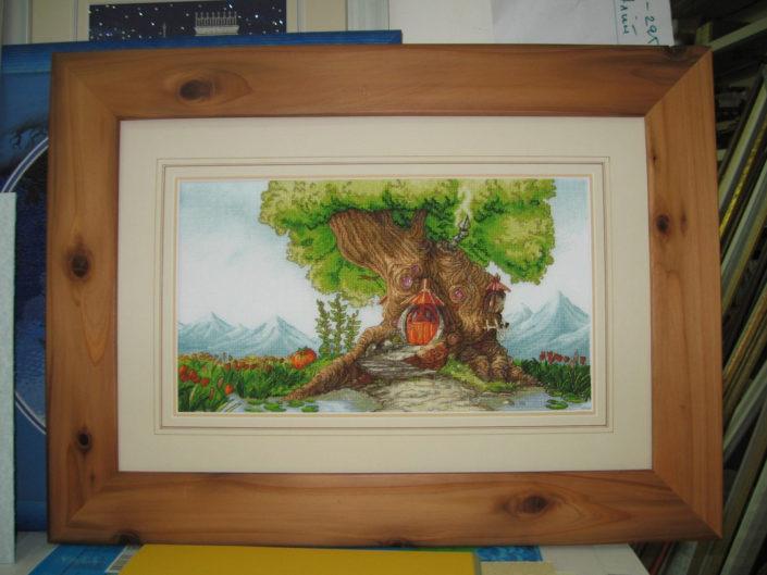 Отшив схемы для вышивки крестом Екатерины Волковой - Древесный дом