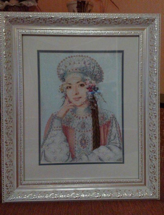 Отшив схемы для вышивки крестом Екатерины Волковой - Зима
