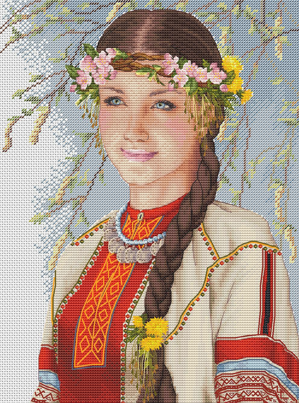 Авторская схема для вышивки крестом Екатерины Волковой - Весна