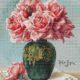 Авторская схема для вышивки крестом Екатерины Волковой - Розы в вазе