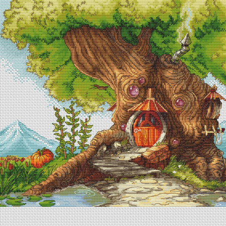 Авторская схема для вышивки крестом Екатерины Волковой - Древесный дом