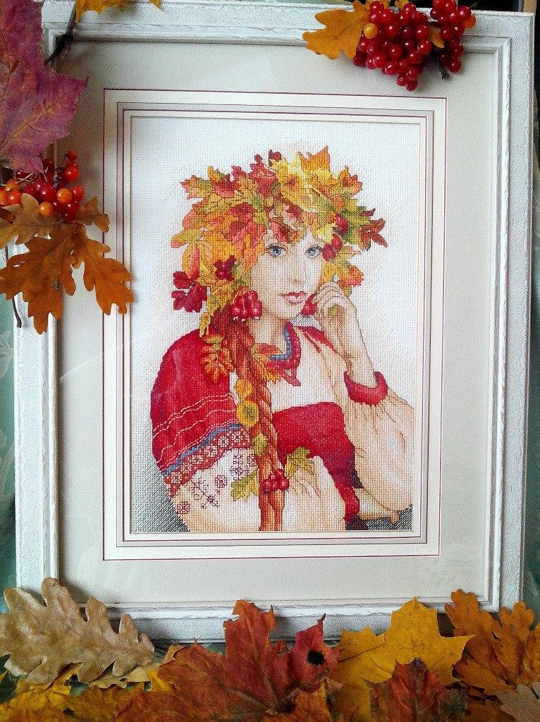Отшив схемы для вышивки крестом Екатерины Волковой - Осень