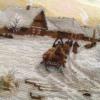 Отшив схемы для вышивки крестом Екатерины Волковой - Зимний вечер