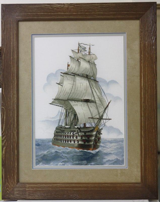 Отшив схемы для вышивки крестом Екатерины Волковой - Корабль
