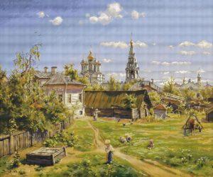Авторская схема для вышивки крестом Екатерины Волковой - Московский дворик