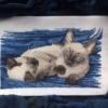 Отшив авторской схемы для вышивки крестом Екатерины Волковой - Тайцы