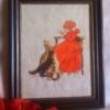 Отшив схемы для вышивки крестом Екатерины Волковой - Девочка в красном
