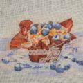 Отшив схемы для вышивки крестом Екатерины Волковой - Десерт с черникой