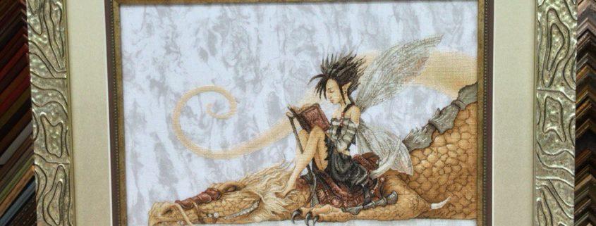 """Схема """"Дракон читальня"""". Вышила Алена Егорова."""