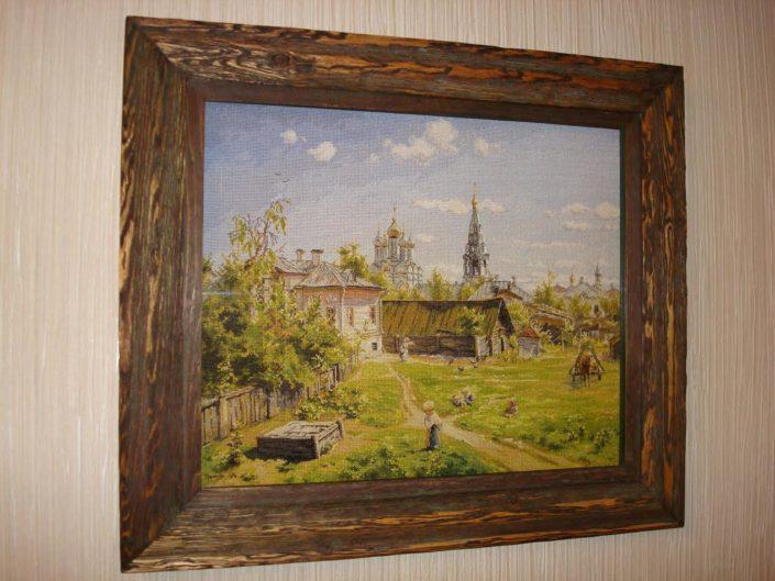 Отшив авторской схемы для вышивки крестом Екатерины Волковой - Московский дворик