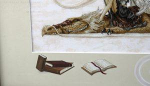 Отшив схемы для вышивки крестом Екатерины Волковой - Дракон-читальня