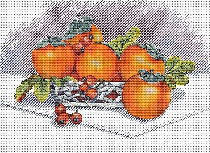 Авторская схема для вышивки крестом Екатерины Волковой - Хурма