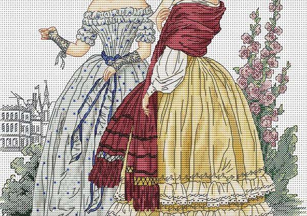 Авторская схема для вышивки крестом Екатерины Волковой - Барышни