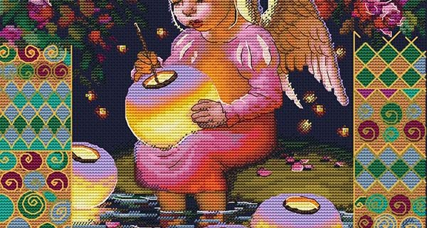 Авторская схема для вышивки крестом Екатерины Волковой - Свет души