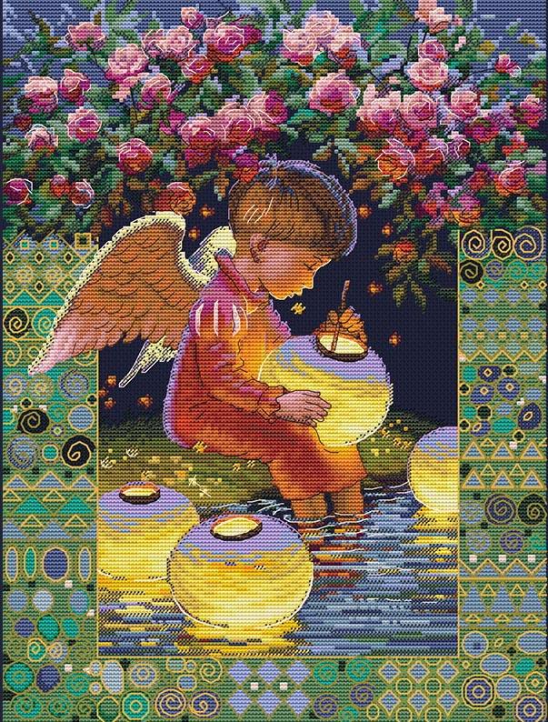 Авторская схема для вышивки крестом Екатерины Волковой - Зажигая звезды