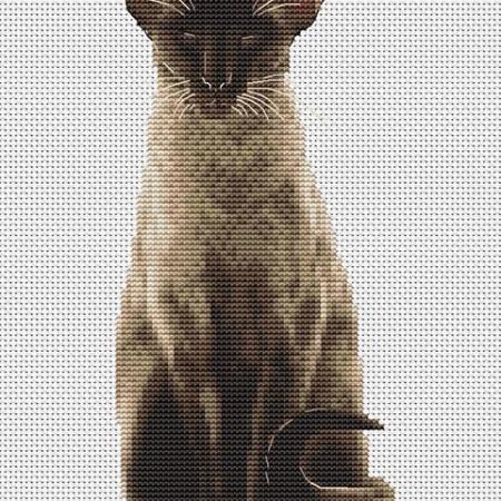 Авторская схема для вышивки крестом Екатерины Волковой - Котодзен