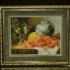 Отшив авторской схемы для вышивки крестом Екатерины Волковой - Натюрморт с креветками
