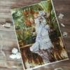 Отшив авторской схемы для вышивки крестом Екатерины Волковой - Дама с сиренью