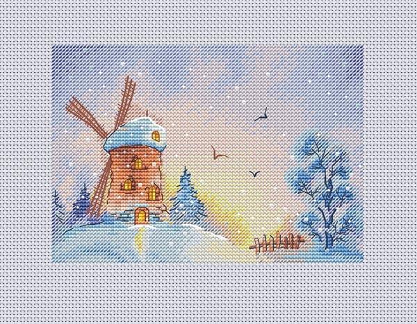 Авторская схема для вышивки крестом Екатерины Волковой - Зимний сон