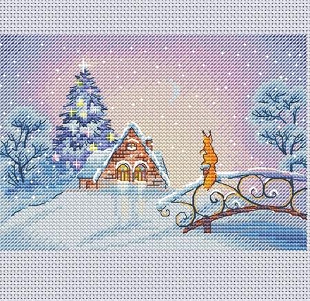 Авторская схема для вышивки крестом Екатерины Волковой - Дыхание волшебства
