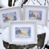 Отшив серии авторских схем для вышивки крестом Екатерины Волковой - Зимние открытки