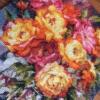 Отшив авторской схемы для вышивки крестом Екатерины Волковой - Пламенные розы