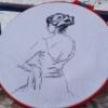 Отшив авторской схемы для вышивки крестом Екатерины Волковой - Балерина