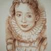 Отшив авторской схемы для вышивки крестом Екатерины Волковой - Портрет камеристки