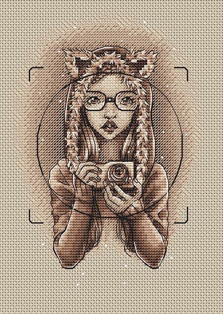 Авторская схема для вышивки крестом Екатерины Волковой - Селфи