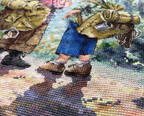 Отшив авторской схемы для вышивки крестом Екатерины Волковой - Юные следопыты