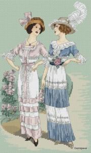 Авторская схема для вышивки крестом Екатерины Волковой - Парижский шик 1