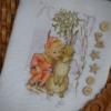 Отшив авторской схемы для вышивки крестом Екатерины Волковой - Эльф и Зайка