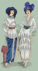 Авторская схема для вышивки крестом Екатерины Волковой - Парижский шик 5
