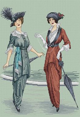 Авторская схема для вышивки крестом Екатерины Волковой - Парижский шик 3