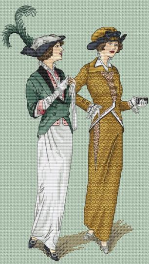 Авторская схема для вышивки крестом Екатерины Волковой - Парижский шик 4