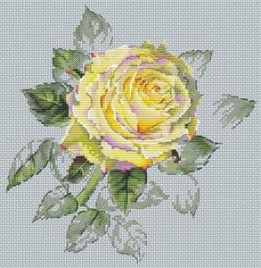 Авторская схема для вышивки крестом Екатерины Волковой - Роза наваждение