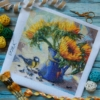 Отшив авторской схемы для вышивки крестом Екатерины Волковой - Цветы солнца