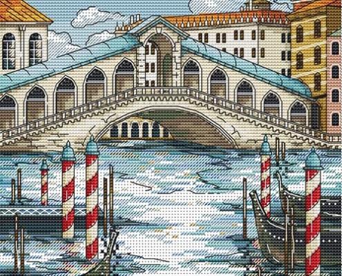 Авторская схема для вышивки крестом Екатерины Волковой - Венеция 2