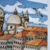 Отшив авторской схемы для вышивки крестом Екатерины Волковой - Венеция1