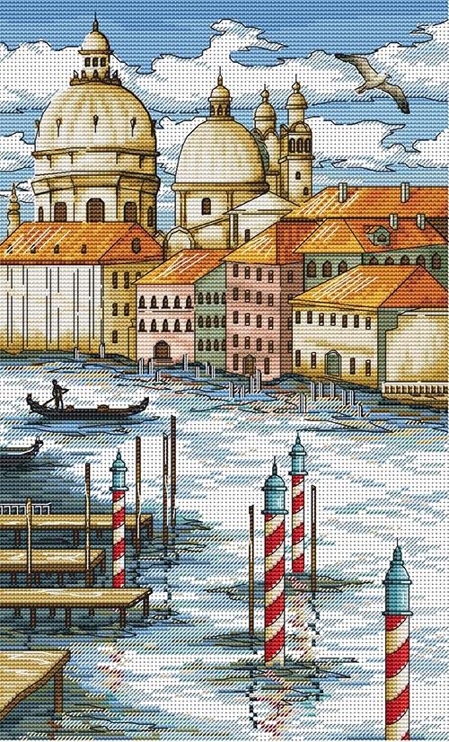 Авторская схема для вышивки крестом Екатерины Волковой - Венеция1
