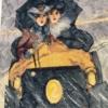 Отшив авторской схемы для вышивки крестом Екатерины Волковой - Леди за рулем