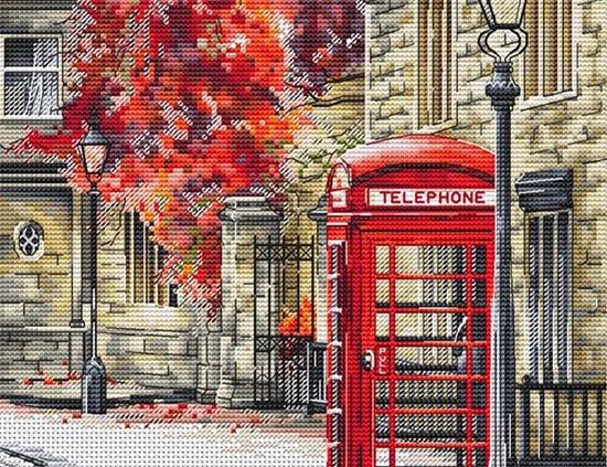 Авторская схема для вышивки крестом Екатерины Волковой - Лондонские зарисовки