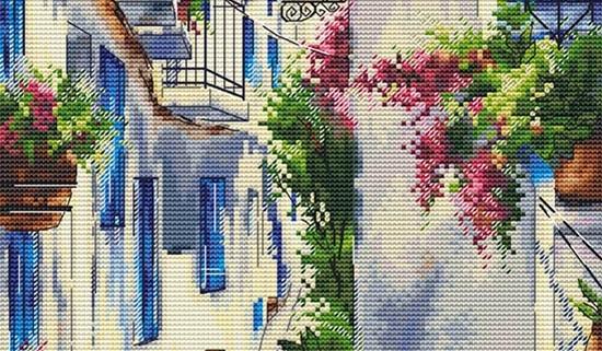 Авторская схема для вышивки крестом Екатерины Волковой - Солнечная Греция