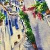 Отшив авторской схемы для вышивки крестом Екатерины Волковой - Солнечная Греция