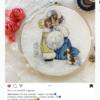 Отшив авторской схемы для вышивки крестом Екатерины Волковой - Барышни с собачкой