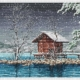 Авторская схема для вышивки крестом Екатерины Волковой - Снегопад