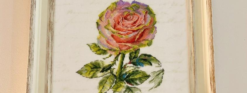 Отшив авторской схемы для вышивки крестом Екатерины Волковой -Роза-Обаяние